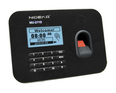 Nideka Nu-2110 Fingerprint Time Recorder