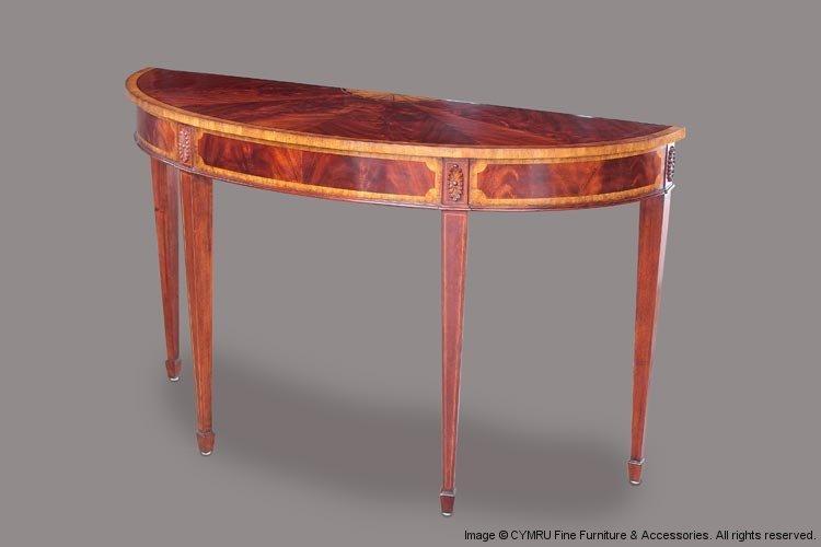 Buy Crotch Mahogany Console Table