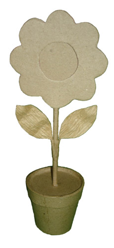 Buy Sun Flower Frame on Pot with Leaves