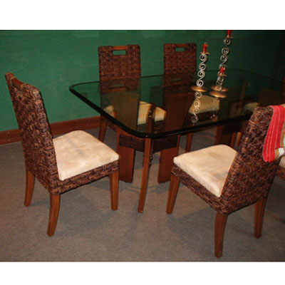 Wood and Abaca Dining Set Buy Wood and Abaca Dining Set