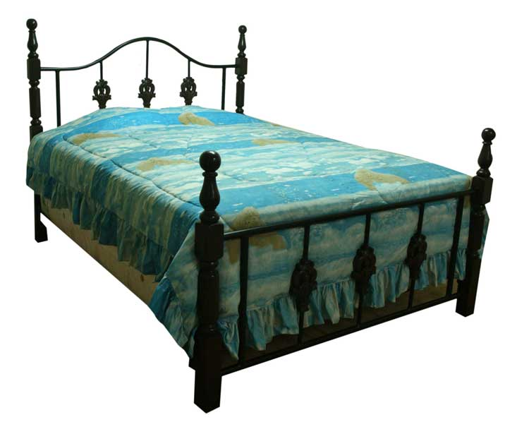 Buy Bedframe metal with wood accent