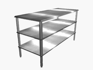 Buy Plain Mid and Bottom Shelf
