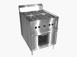 Buy 4 Open Top Range W/ Oven
