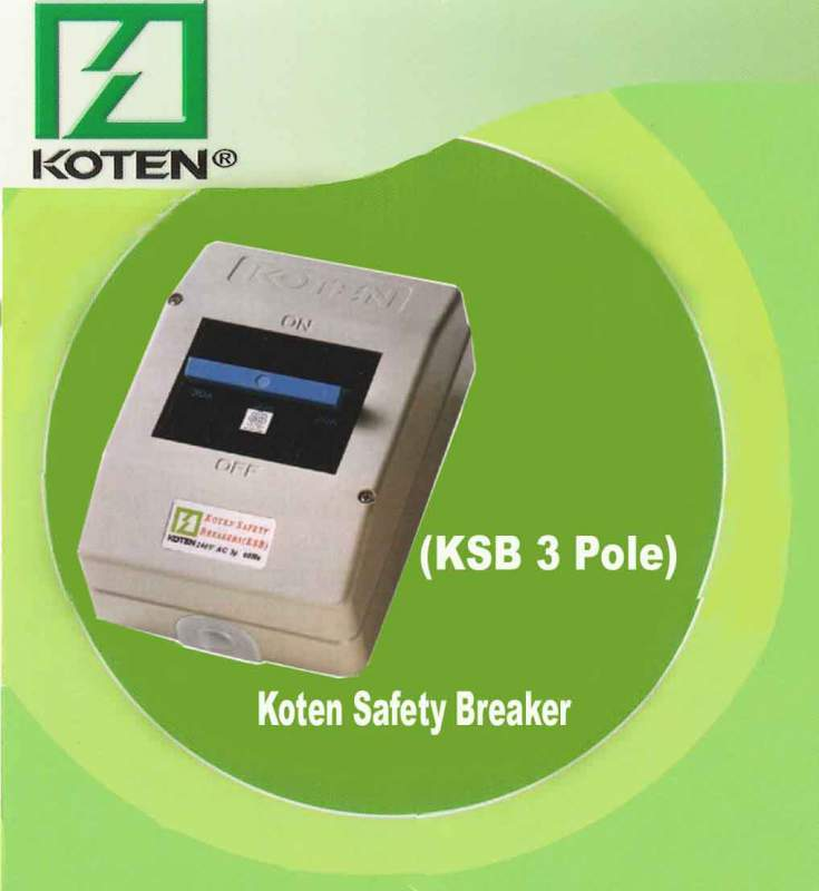 Buy KSB 3 Pole (Koten Safety Breaker)