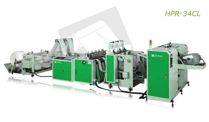 Buy Fully automatic bottom sealing bag on coreless roll making machine with auto roll changing device