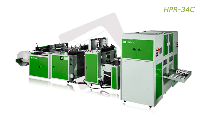 Buy Fully automatic perforated bag on roll with core making machine