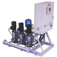 Buy Triplex (3-pumps) Constant Pressure System with vertical in-line centrifugal pumps