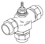 Buy VB-7314-000-4-PP Union sweat straightaway three-way mixing valve