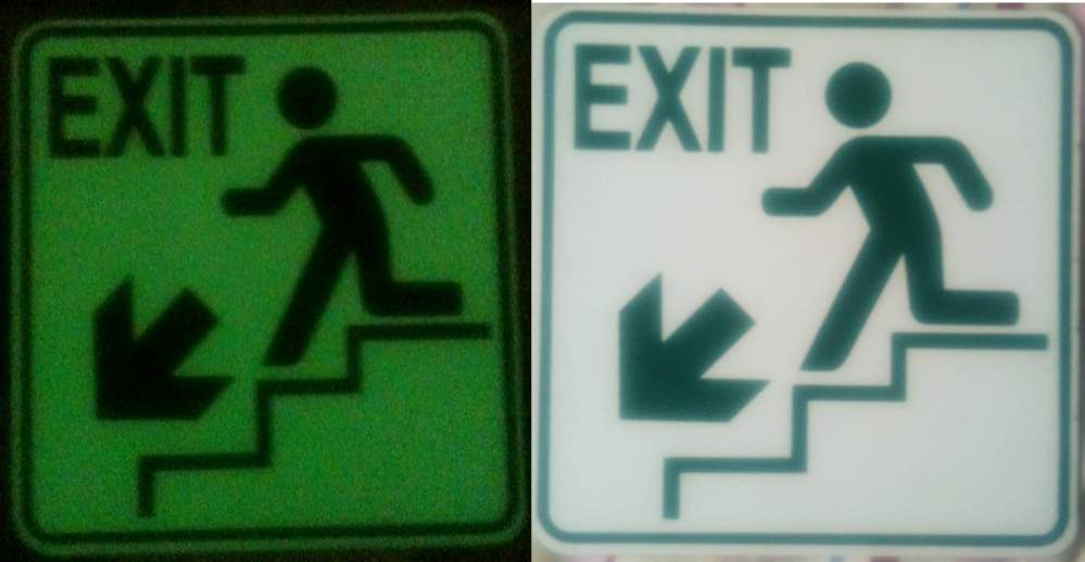 Buy PHOTO LUMINESCENT / LUMINOUS SAFETY SIGN