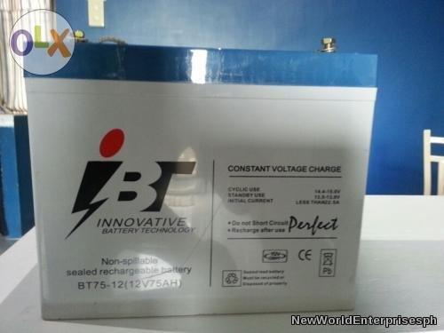 Buy 75Ah Solar batteries ITB Brand