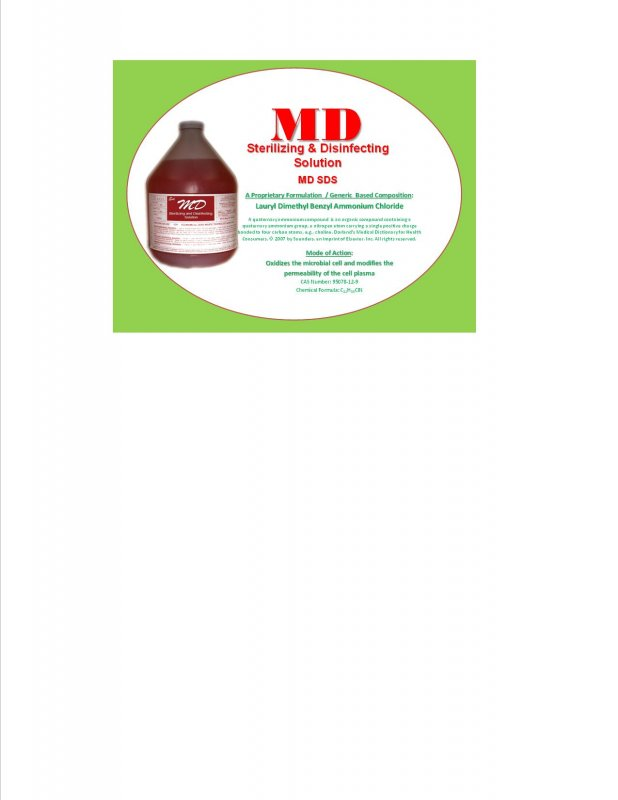 Buy MD Sterilizing & Disinfecting Solution (MD SDS)