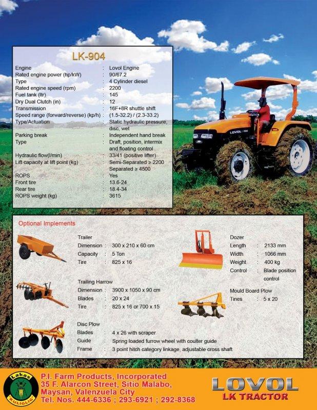 Buy 90Hp 4 Wheel Drive Tractor