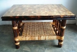 Buy Bamboo Tiles Center Table