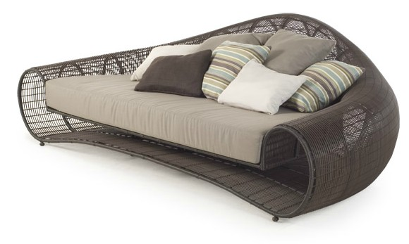 Chain sofa for the living room.  An example of a beautiful handmade wicker vine.