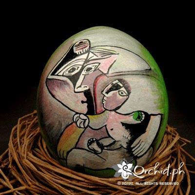 Buy Ostrich Egg Painting