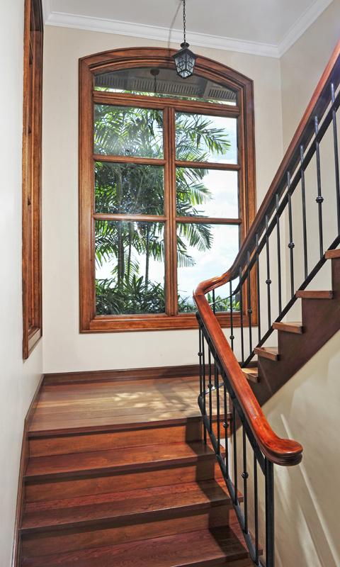 Charming Natural Wood Staircase