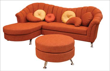 Buy Orange Sofa Set
