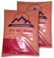 Red Dry Set Grout