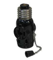 Chain Pull Socket wtih 2 Flat Pin Outlet