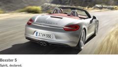 Porsche Boxster S car