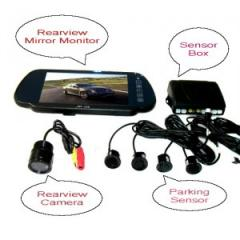 7 inch LCD back up sensor with camera Parking