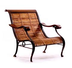 French Light Walnut Arm Chair