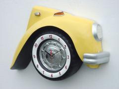 V-Car Clock Yellow