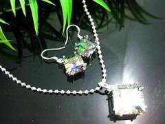 Silver Fashion Gemstone Jewelry Set