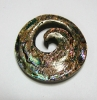 Paua Shell Carved Koru Pendant