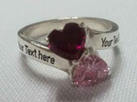 Double Heart Stone Specialty Ring