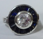 Ladies Fashion Specialty Ring with Blue Sapphire