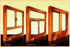 Wood Grain Finish Sliding Windows and Doors