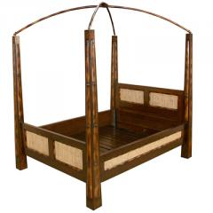 Bamboo , Wood Canopy Bed 02