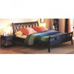 Rattan Bed 01 Wood