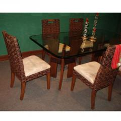Wood and Abaca Dining Set 01