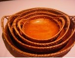 Circular Wooden Trays