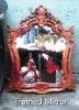 Hand-carved Framed Mirror