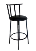 Lims Barstool painted black steel