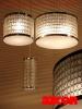 Capiz Scaled Dl Wide Ceiling Light