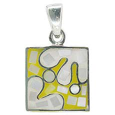 Yellow Square Blob Pendant