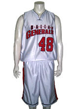 Dallas Generals  Basketball Uniforms