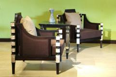 Armchairs And Table Set