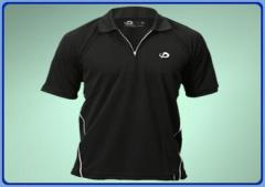 Phiten X45 Zip Polo Shirt