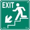 Photoluminescent Exit Egress Sign