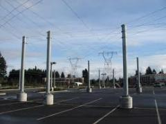 Long Round Concrete Poles