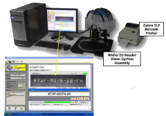 Table Top Wafer ID Reader with Barcode Printing