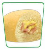 Stuffed Pandesal sandwich