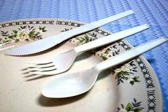 Disposable Spoon, Fork, and Knife