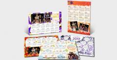 Photo calendar magnets