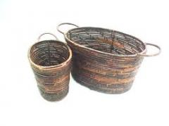 Set of 2 BacBac Coil Oval Basket